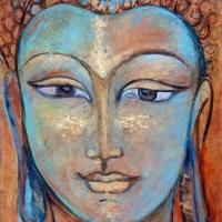 Blue bouddha